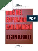 Vida Del Emperador Carlo Mag No