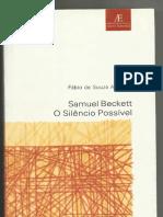 Samuel Beckett O silêncio possível Fabio de Souza Andrade