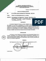 Promulgación Reglamento Disciplinario Alumno UNEFA