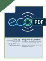 Plan de Gobierno Partido Estudiantil ECOS