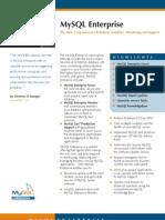 Mysql Enterprise Datasheet