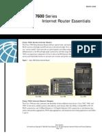 Cisco 7600 Series Internet Router Essentials