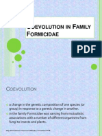 Coevolution in Family Formicidae