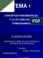 Tema 1 Conceptos Fund Amen Tales y La Ley 0 de Termodinamica