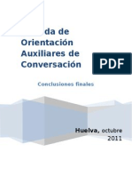 conclusiones orientacin 2011