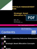 Strategic Asset Allocation Concepts
