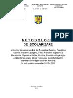 Metodologia de Scolarizare a Etnicilor Romani 2010