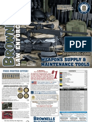 31920323 Brownells Law Enforcement Catalog Weapons Supply