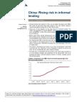 (CS) China Rising Risk in Informal Lending