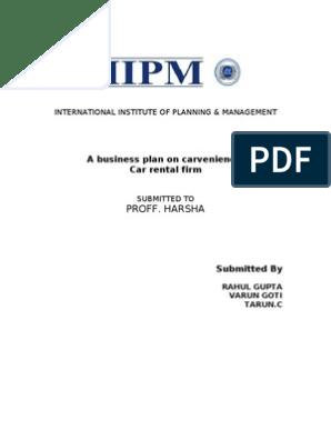 party rental business plan pdf