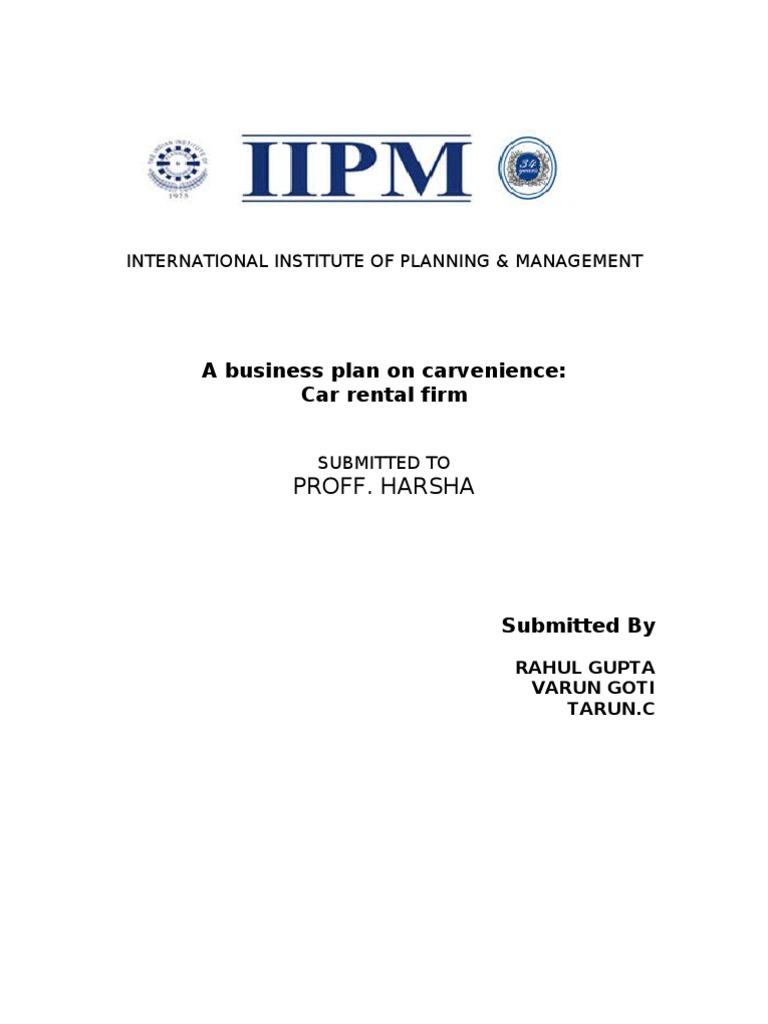 Business plan for car dealership