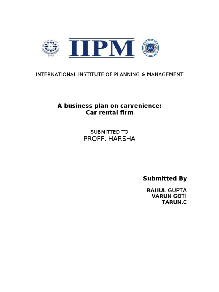 Service business plan