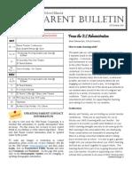 ES Parent Bulletin Vol#5 2011 Oct 7