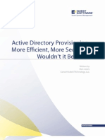 Active Directory Provisioning More Efficient, More Secure, Wouldnt It Be Nice