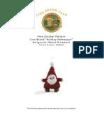 Lion Brand Amigurumi Santa Ornament