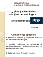 Ingrijirea Pacientului in Dermatologie Notiuni Introductive Si Plan