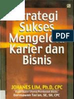 Strategi Sukses Mengelola Karier Dan Bisnis - Johanes Lim - Bhs Indonesia