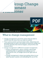 APM Group Change Management Practitioner Quick Guide
