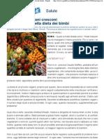 Piccoli Vegetariani Cresconi Pro e i Contro Nella Dieta Dei Bimbi - Repubblica