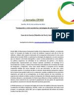Programa de las  IV Jornadas de `Inmigración y crisis económica