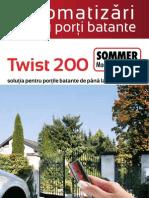 Volant Automatizari Porti Batante SOMMER TWIST 200