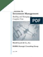 success in investment