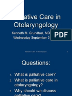 Palliative Care AAO-HNS Crse