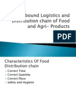 Outbound Logistics and Distribution Chain of Food And