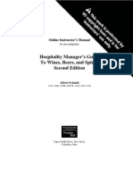 Hospitality Manager's Guide to Wines, Beers, And Spirits 2nd Edition