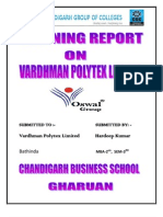 Vardhman Polytex Limited Bathinda by Hardeep for Mba