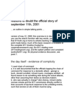 The Top 40 Reasons to Doubt the Official Story About 9-11