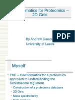 tics for Proteomics-2d Gels