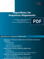 Sequence Alignment Methods and Algorithms