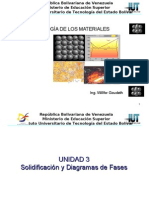 Solidificación y Diagramas de fases