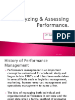 Analyzing Assessing Performance