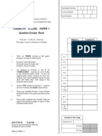 AL Chemistry 2000 Paper 1+2