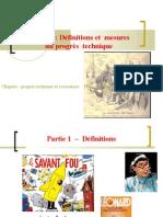 thème 1- Définition et mesure du progrès technique