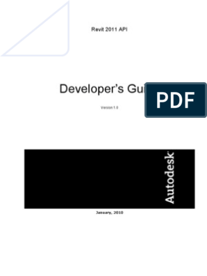 Revit 2011 API Developer Guide | Autodesk Revit | Application