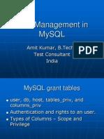 User Management in MySQL