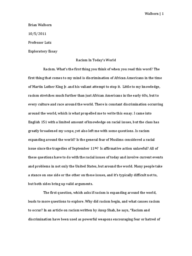 Racial profiling driving while black essay