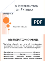 Study on Distribution Channel in Fathima Agency