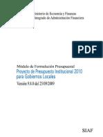 Manual Proyecto Presupuestario 2010 GL V980