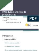 1 - Introdução à lógica de programação