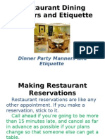 Etiquettes on Fine Dining[1]