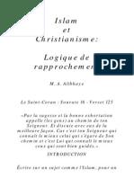 Islam Et Christian is Me Logique de Rapprochement
