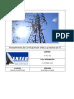 EC-PCF-01 Procedimiento Certificación Fibra óptica