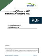 BreezeMAX Extreme 36xx Release 1 7 GA RN v5