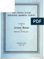 USSBS Report 3, The Effects of the Atomic Bomb on Hiroshima and Nagasaki