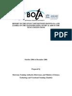 BOTA-MSTVT Joint Report on HIV & AIDS in TVET