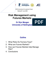 Risk Management Using Future